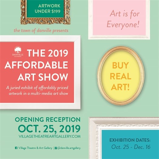 Affordable Art Show Opening Reception Friday, Oct. 25, 2019