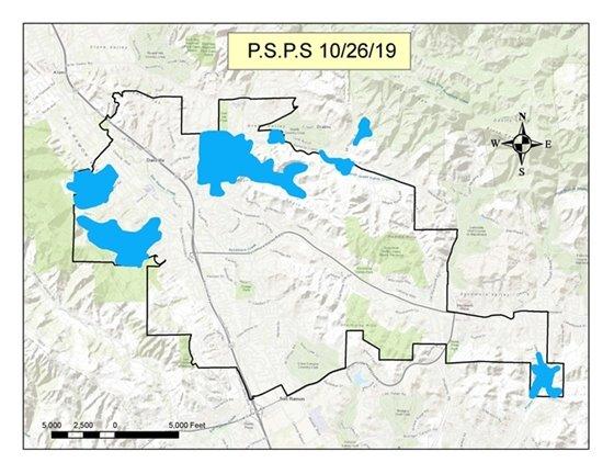 PSPS Shutoff Map 10/26/19
