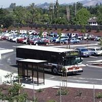 County Connection Bus in Sycamore Park and Ride Lot