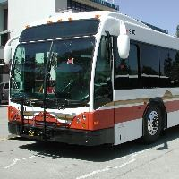 County Connection White and Red Bus