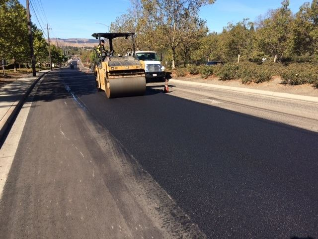 City Equipment Doing a Pavement Overlay