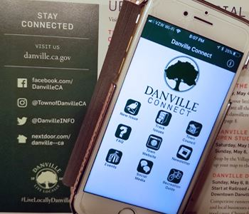 iPhone showing Danville Connect app