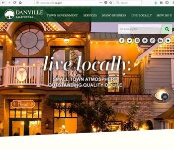 Screen Capture of the Town&#39s Homepage