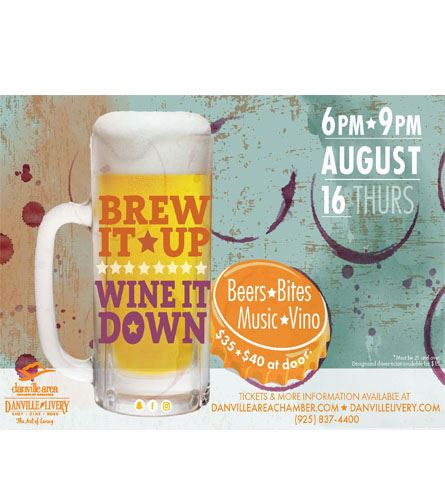 Brew it Up Wine it Down Poster 2018