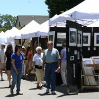 browsing art at the Danville Summerfest event