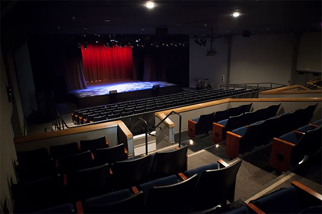 Inside the Village Theatre, Chairs and Stage