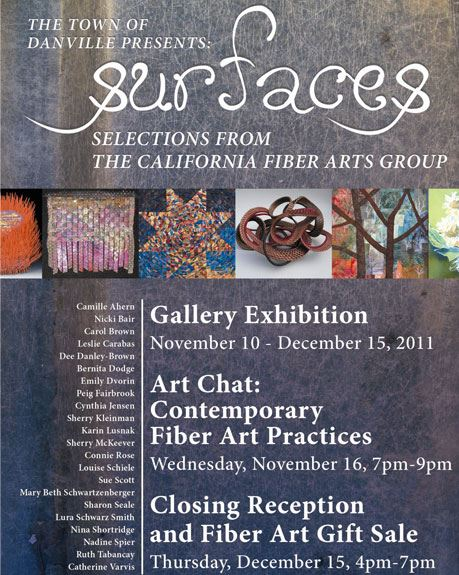 2011 - Surfaces - Selections from the California Fiber Arts Group