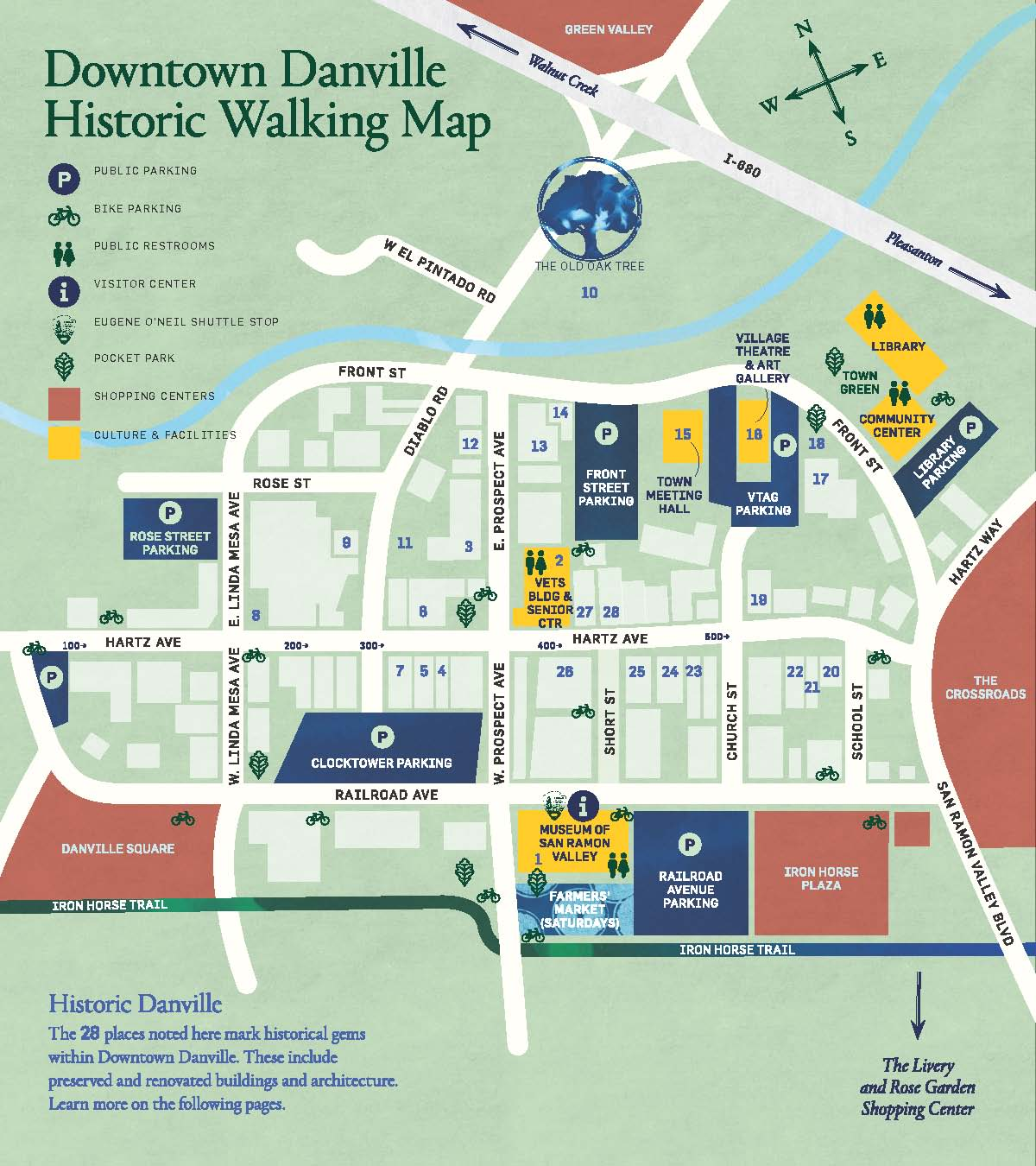 Danville Downtown Historic Walking Map