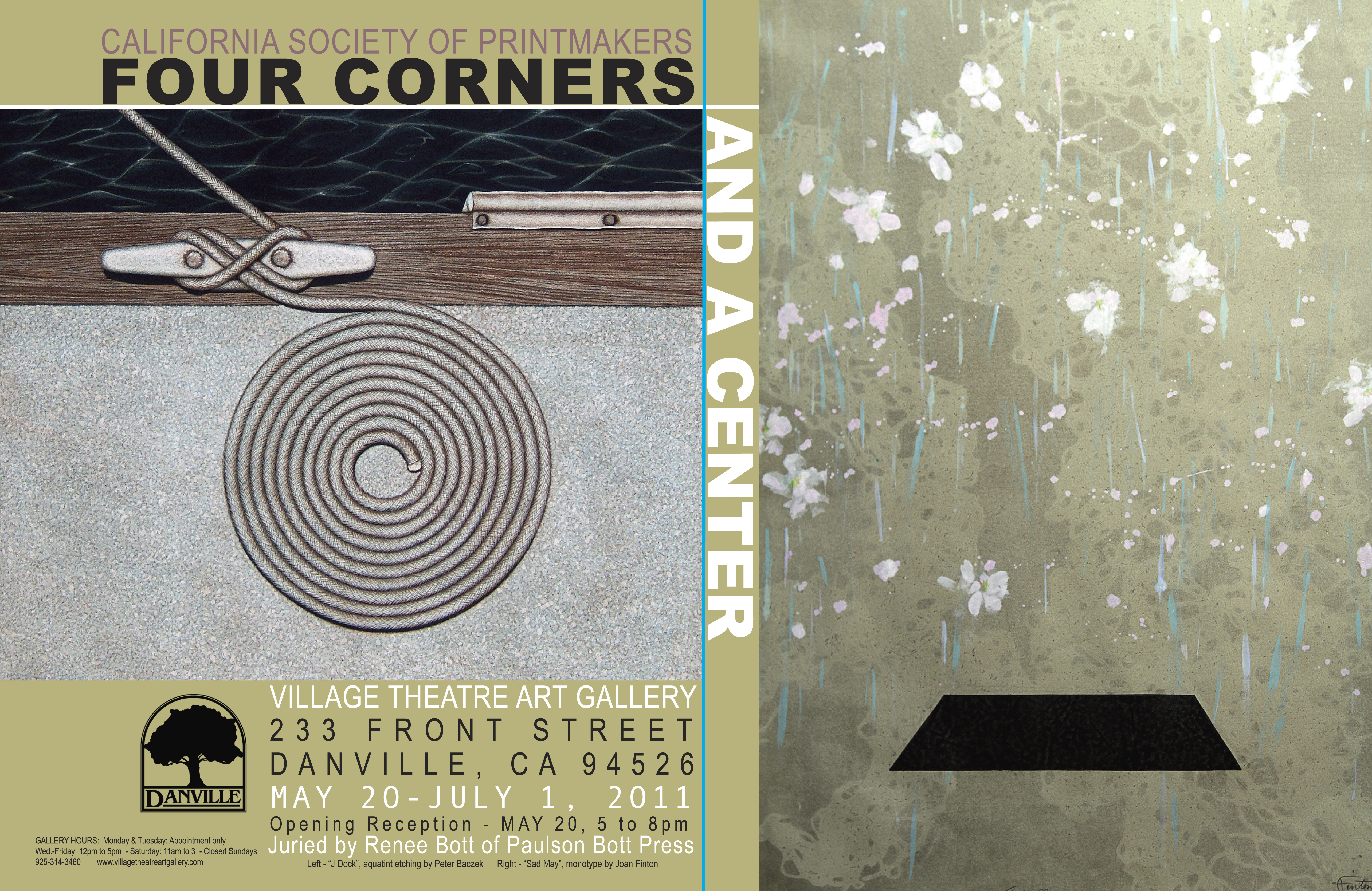 Flyer for Four Corners And A Center Exhibit -2011