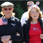Senior Couple at 4th July Parade