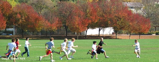 Flag Football game at Osage Station Park