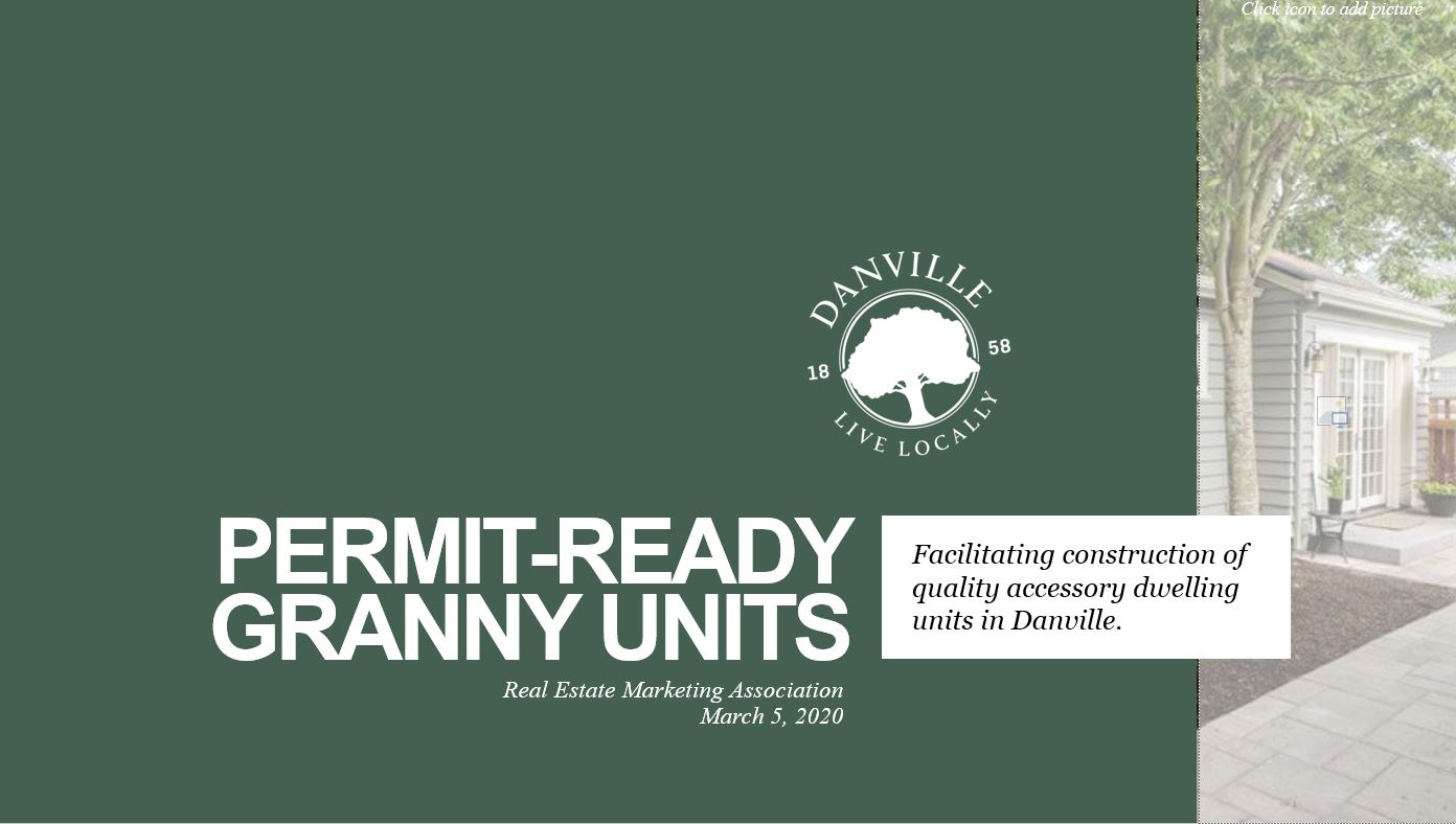 Permit Ready Granny Units, Facilitating construction of quality accessory dwelling units in Danville