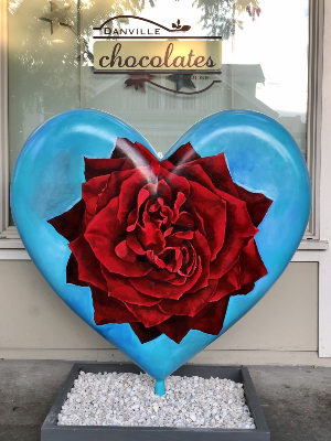 Deborah Shea's Heart on East Prospect at Danville Chocolates