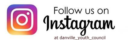 Danville Youth Council Follow Us on Instagram Graphic