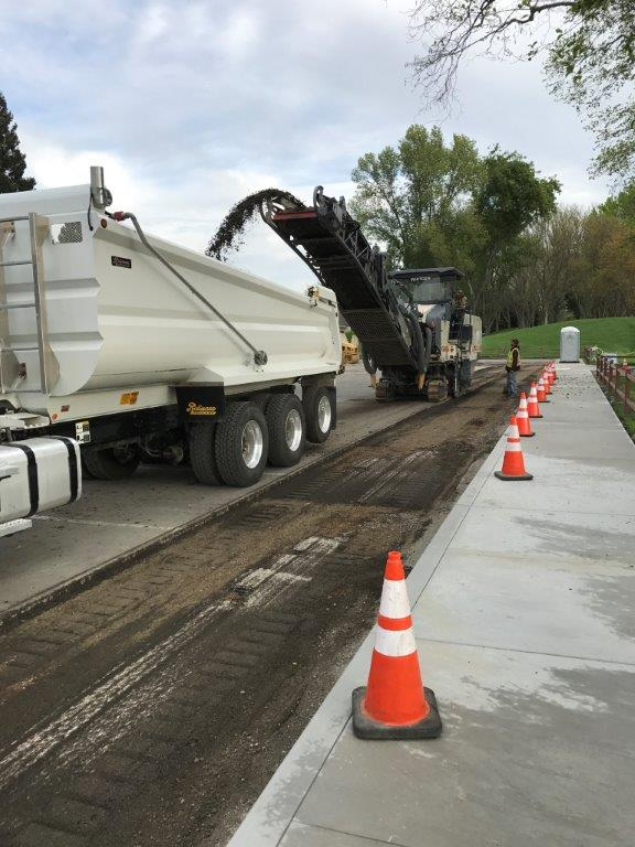 Pavement Grinding at Osage Station South Parking Lot