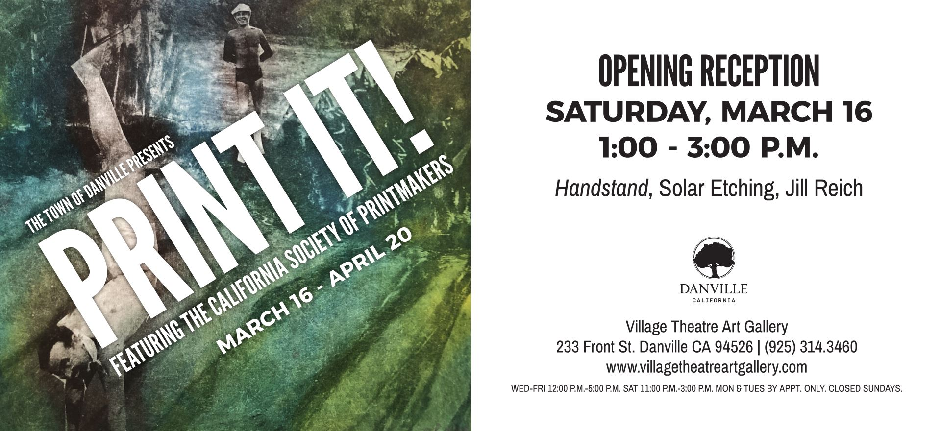The Town of Danville Presents Print It Featuring the California Society of PrintMakers March 16 - Ap